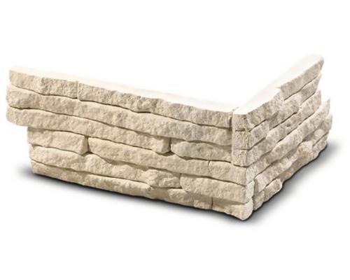 Obkladový kámen rohový Tores krémový 21x12,5x9x2,1 cm