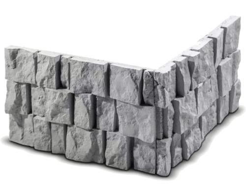 Obkladový kámen rohový Granit 33,2x33,2x20x4 cm