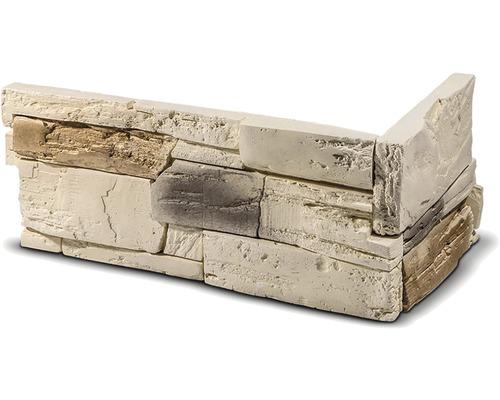 Obkladový kámen rohový Tenabo béžový 33x14,5x14,5x2,5