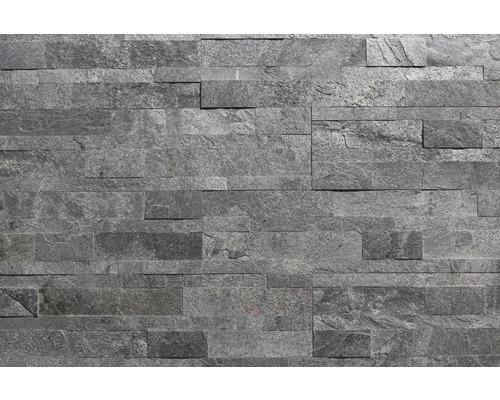 Obkladový kámen ALFIstick Kvarcit šedý 15x60 cm