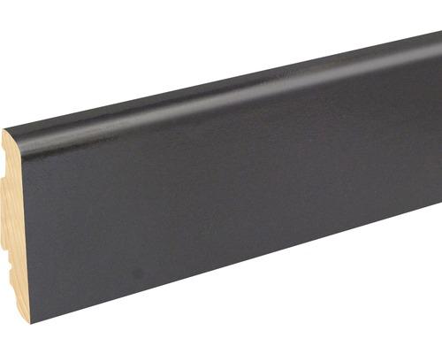 Soklová lišta Skandor černá lesklá FU60L 19x58x2400 mm