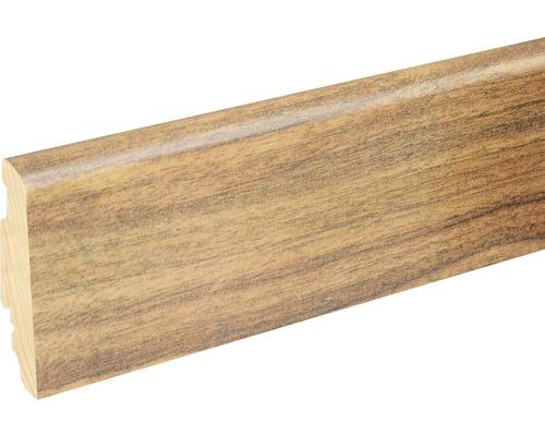 Soklová lišta Skandor Morris Walnut lesklá FU60L 19x58x2400 mm