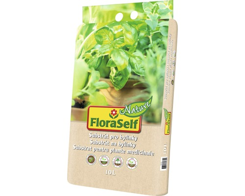 Substrát pro bylinky FloraSelf Nature 10 l