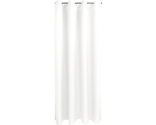 Závěs s očky Ocean, bílý 14x245cm