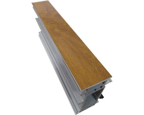Rozšiřovací profil ARON Comfort 35 mm bílý / golden oak D: 2200 mm