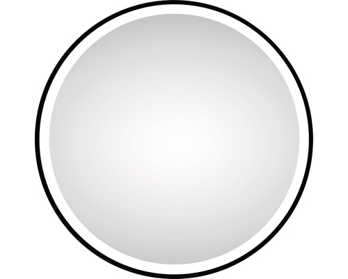 LED kulaté zrcadlo do koupelny DSK Black Circular matt Ø 60cm IP 24