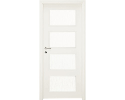 Interiérové dveře Colorado 5 prosklené 60 L bílé (VÝROBA NA OBJEDNÁVKU)