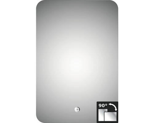 LED zrcadlo do koupelny Silver Moon 40x60 cm