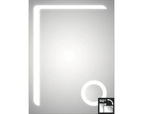 Zrcadlo do koupelny DSK LED Silver Arrow 80x60 cm