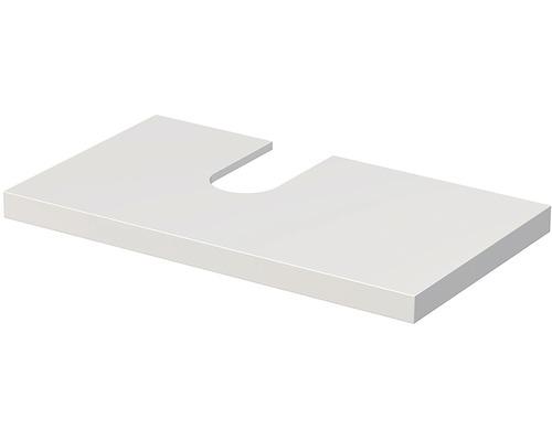 Deska pod umyvadlo Intedoor Landau bílá 90 cm s otvorem vlevo pro umyvadlo Jungborn Slimline Nissa