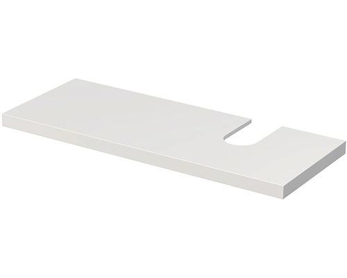 Deska pod umyvadlo Intedoor Landau bílá 130 cm s otvorem vpravo pro umyvadlo Jungborn Slimline Nissa