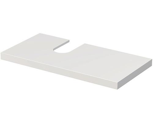 Deska pod umyvadlo Intedoor Landau bílá 100 cm s otvorem vlevo pro umyvadlo Jungborn Slimline Nissa