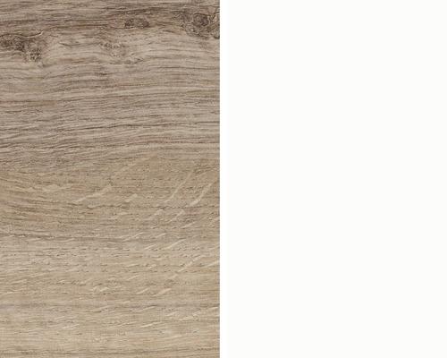 Obkladová deska Polyform 10 x 640 x 4100 mm oboustranná dub antik / bílá