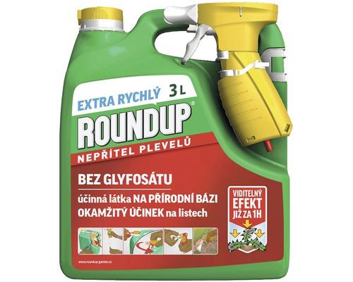 Roundup Extra rychlý k hubení plevele 3 l