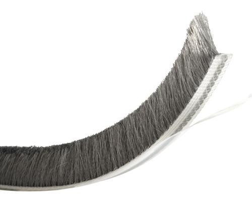 Těsnící kartáč 12 mm, 5,5 m, šedý, 1062