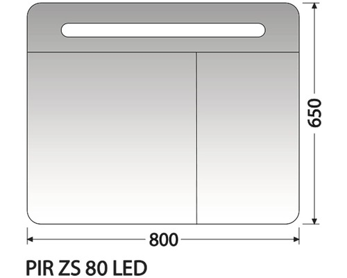 Zrcadlová skříňka Intedoor PIR ZS 80 LED 01