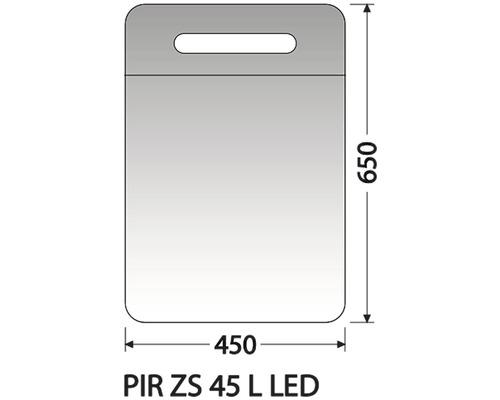 Zrcadlová skříňka Intedoor PIR ZS 45 L LED 01