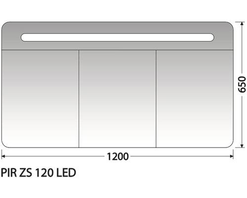 Zrcadlová skříňka Intedoor PIR ZS 120 LED 01