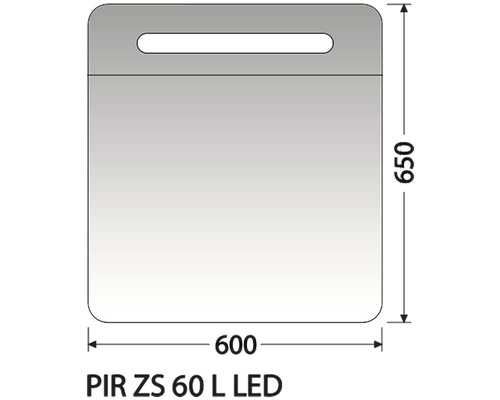 Zrcadlová skříňka Intedoor PIR ZS 60 L LED 01
