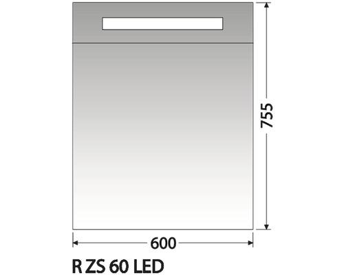 Zrcadlová skříňka Intedoor R ZS 60 LED 01