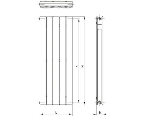 Koupelnový radiátor Korado Koratherm 160x36,6 cm bílý Vertikal 10 K10V160036-00-10