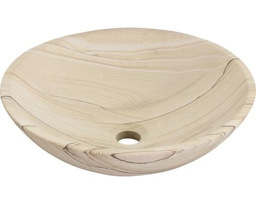 Umyvadlo na desku Sandstone 40 cm přírodní kámen pískovec