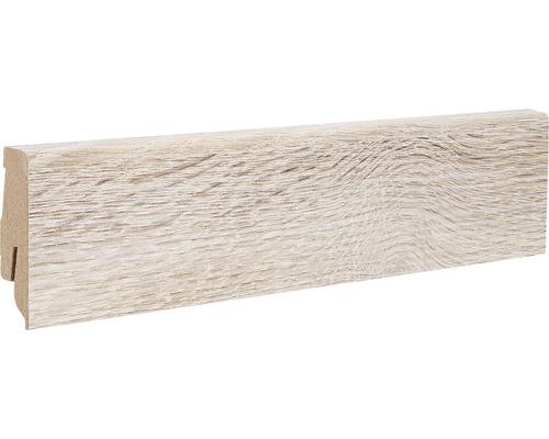 Podlahová lišta MDF 22 x 60 x 2600 mm dub stříbrný