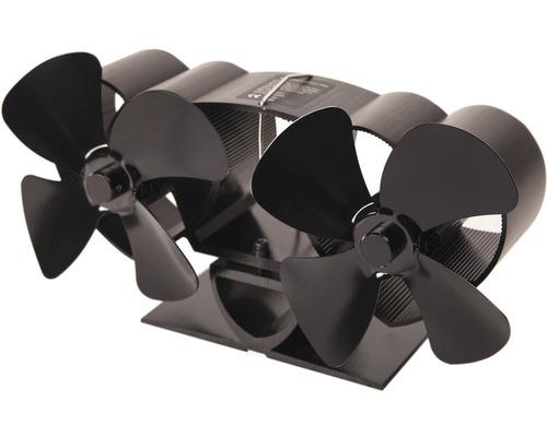 Krbový ventilátor HS Flamingo dvouhlavý černý