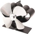 Krbový ventilátor HS Flamingo 4-lopatkový mini stříbrný