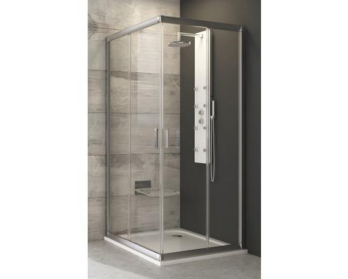 Modulární sprchový kout RAVAK Blix BLRV2K-110 satin+transparent jedna strana 1XVD0U00Z1