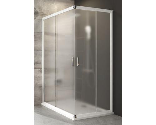 Modulární sprchový kout RAVAK Blix BLRV2K-120 white+Grape jedna strana 1XVG0100ZG