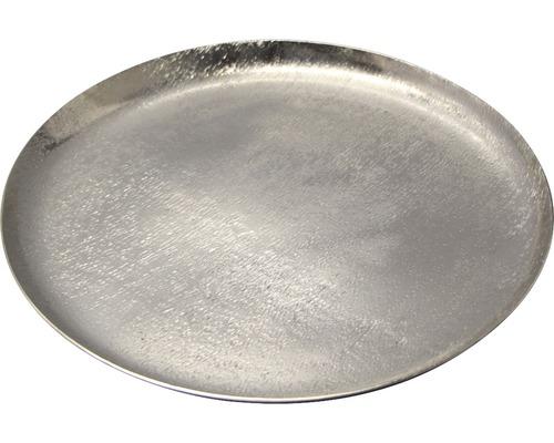 Talíř dekorační Ø 29 cm stříbrný