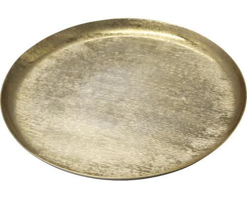 Talíř dekorační Ø 29 cm zlatý