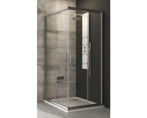 Sprchový kout RAVAK Blix BLRV2-90 satin+Transparent 190 cm 1LV70U00Z1