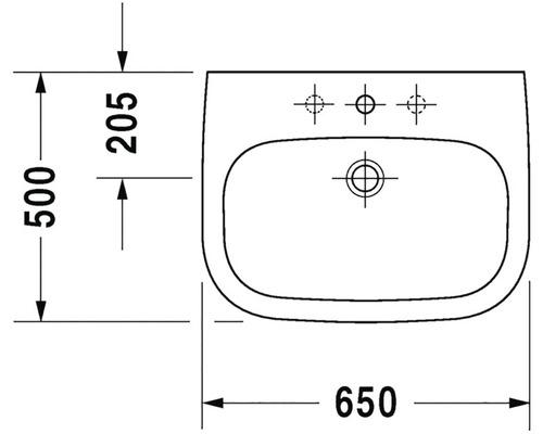 Umyvadlo Duravit D-Code 50x65 cm D-D 23106000002