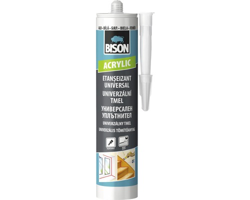 Tmel akrylátový BISON ACRYLIC UNIVERSAL bílý 280 ml