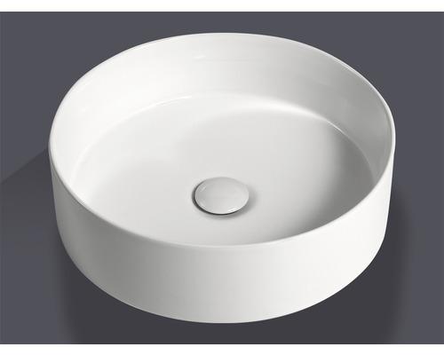 Umyvadlo na desku Jungborn IMION 40 cm bílé vč. keramického odtokového ventilu