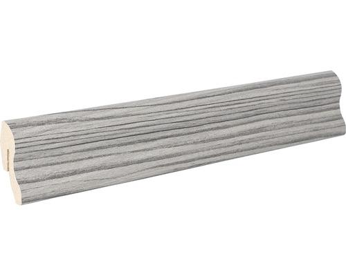 Podlahová lišta MDF 22 x 40 x 2600 mm borovice stříbrná