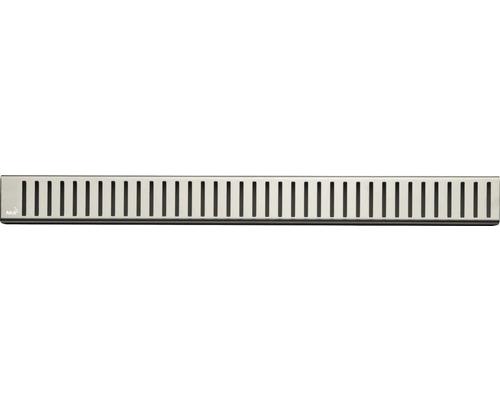Rošt pro liniový podlahový žlab Alcaplast 115 cm nerez matný zebra PURE-1150M