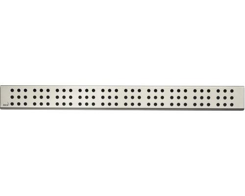 Rošt pro liniový podlahový žlab Alcaplast 65 cm nerez matný drops CUBE-650M