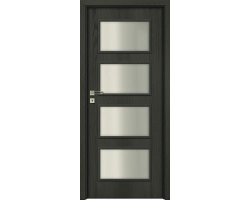 Interiérové dveře Colorado 5 prosklené 60 L antracit (VÝROBA NA OBJEDNÁVKU)