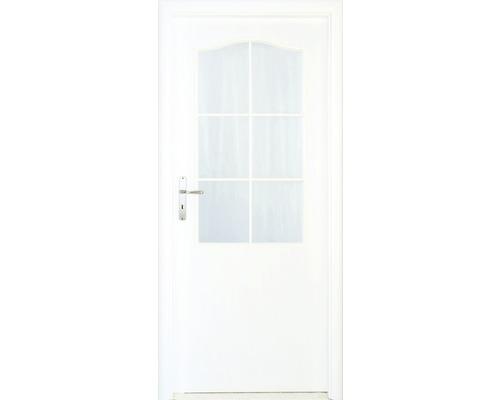 Interiérové dveře Single 2 prosklené 60 L bílé (VÝROBA NA OBJEDNÁVKU)