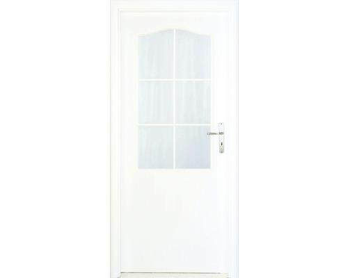 Interiérové dveře Single 2 prosklené 80 P bílé
