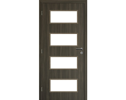 Interiérové dveře Solodoor Zenit 28 prosklené 80 L fólie rustico (VÝROBA NA OBJEDNÁVKU)