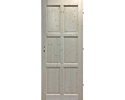 Interiérové dveře masivní 6K plné, 70 P, smrk