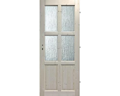 Interiérové dveře masivní 4S2K prosklené, 80 P, smrk
