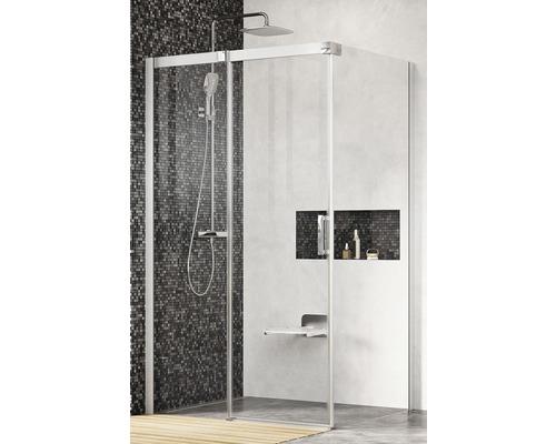 Sprchový kout RAVAK Matrix MSDPS-120/80 L satin+Transparent 0WLG4U00Z1