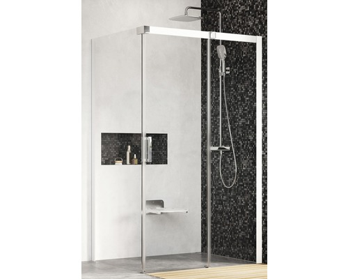 Sprchový kout Ravak Matrix MSDPS-120/80 R white+transparent 0WPG4100Z1