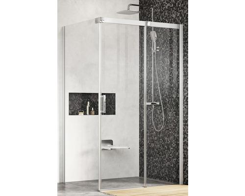 Sprchový kout RAVAK Matrix MSDPS-100/80 R satin+Transparent 0WPA4U00Z1