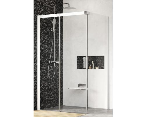 Sprchový kout Ravak Matrix MSDPS-100/80 L white+transparent 0WLA4100Z1